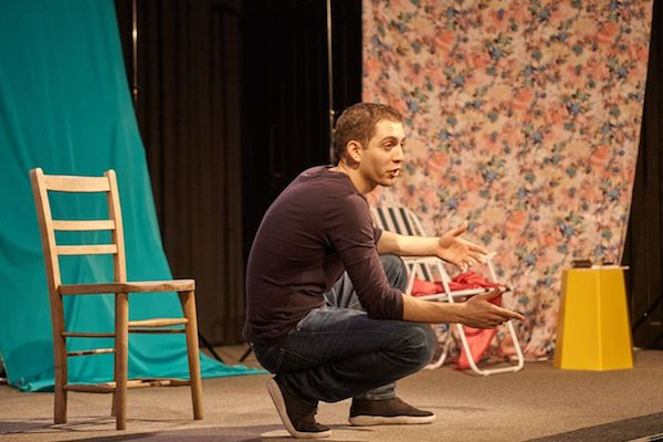 James El-Sharawy in the play 'Camouflage,' London, May 18, 2017. (Ho-Chih Lin)