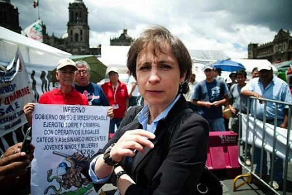 Mexican journalist Carmen Aristegui. According to the New York Times, the Mexican government used hacking software developed by the Israeli company NSO to spy on her. (Eneas De Troya, cc-by-2.0)