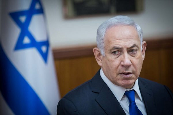 Israeli Prime Minister Benjamin Netanyahu leads the weekly cabinet meeting at the Prime Minister office in Jerusalem on June 18, 2017. (Yonatan Sindel/Flash90)