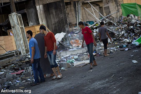 Palestinian youth in Gaza. (Illustrative photo by Activestills.org)