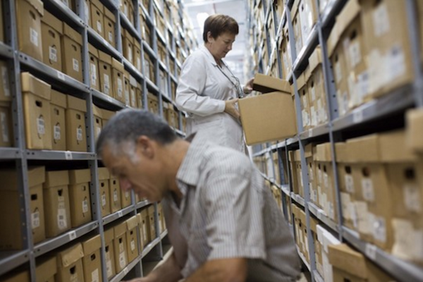 Illustrative photo of Israel's State Archives, Jerusalem. (Yonatan Sindel/Flash90)