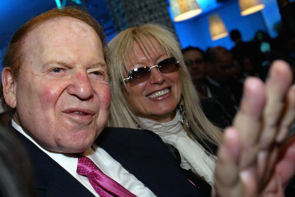 American billionaire businessman Sheldon Gary Adelson (L), and his wife Miriam Ochshorn attends the Israeli Presidential Conference at the International Conference Centre in Jerusalem May 13, 2008. (Olivier Fitoussi /FLASH90.)