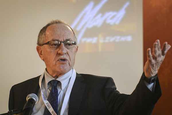 A file photo of Alan Dershowitz. (Yossi Zeliger/Flash90)
