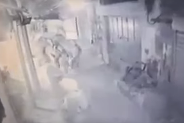 CCTV footage showing Israeli soldiers beating and arresting a Palestinian man during clashes in Jericho. The man later died, likely of wounds sustained during the beating.
