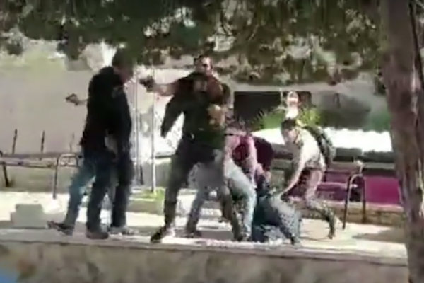 Undercover Israeli troops arrest a student leader at Bir Zeit University, March 7, 2018.