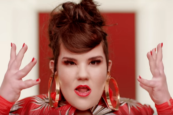 Screenshot from Netta Barzilai's video for 'Toy,' which won the 2018 Eurovision Song Competition.