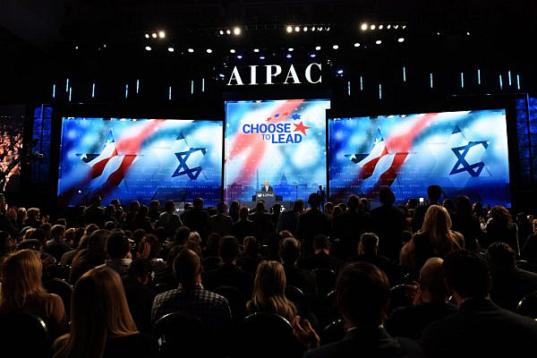 Prime Minister Benjamin Netanyahu speaks at the AIPAC Conference in Washington DC, on March 6, 2018. (Haim Zach/GPO)