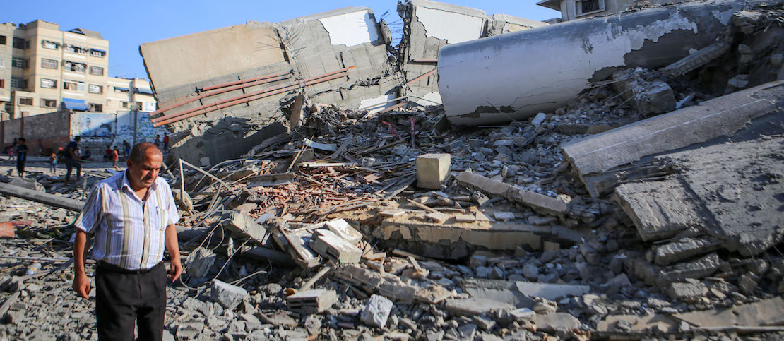 With their cultural center bombed, Gaza's artists are now picking up the pieces