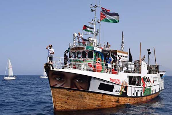 An undated photo of Al Awda, one of several boats carrying aid in an attempt to break the siege on Gaza, which was intercepted by the Israeli Navy on Sunday. (Freedom Flotilla Coalition)