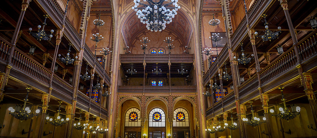 A view of the Dohány Street Synagogue, also known as The Great Synagogue, in Budapest, Hungary. (Yossi Zeliger/Flash90)