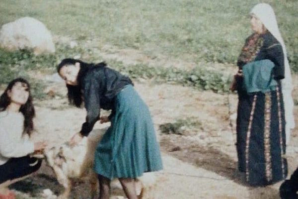 From left to right, the author's aunt, mother and grandmother on the land they used to harvest in Jordan. (Photo courtesy of the author.)