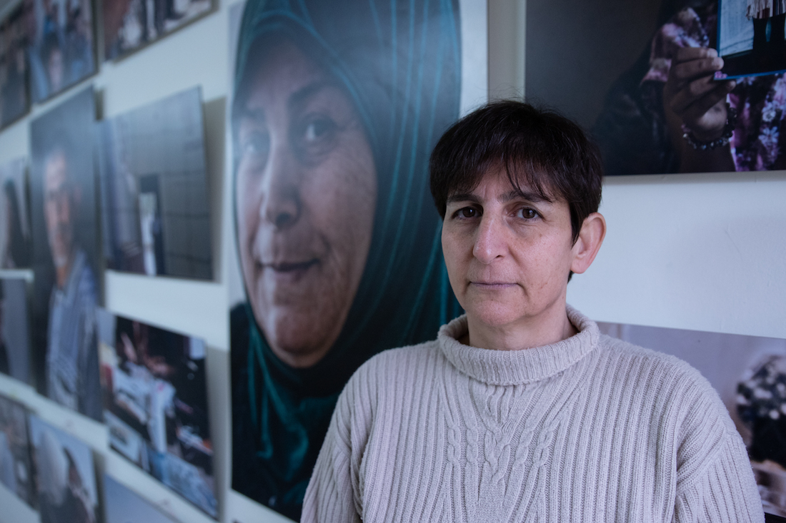 Sahar Francis, director of Addameer, seen at the organization's offices in Ramallah, West Bank on February 19, 2019. (Photo: Mohannad Darabee for +972 Magazine)