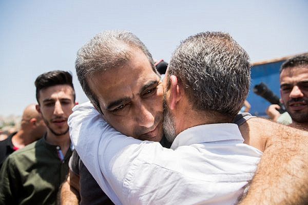 Mahmoud Katusa, seen after his relese from Israeli prison, in the West Bank city of Ramallah, June 25, 2019. (Yonatan Sindel/Flash90)
