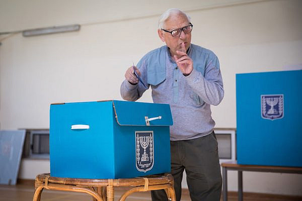 Israeli citizens cast their ballots at a voting station in Jerusalem, during the Knesset elections on April 9, 2019. (Hadas Parush/Flash90)