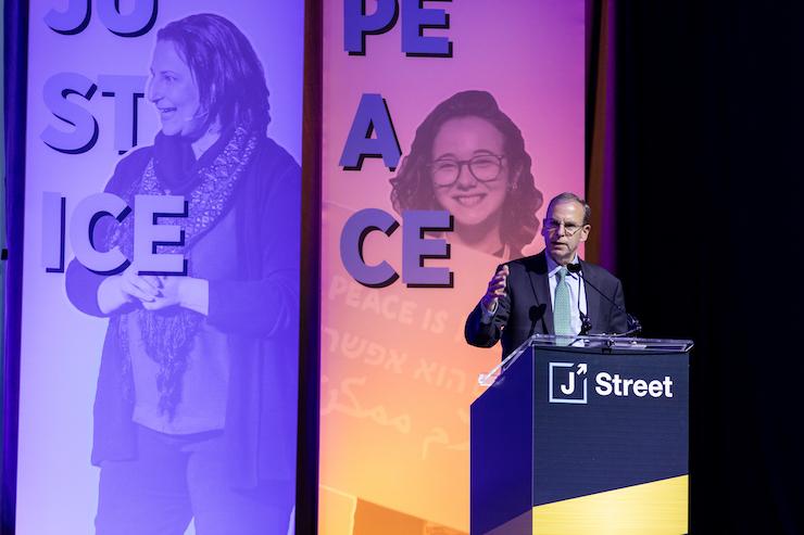 J Street President Jeremy Ben-Ami speaks at the 2019 J Street National Conference, October 28, 2019. (Photo courtesy of J Street)