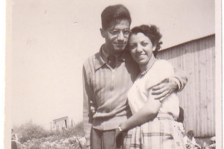 Ishaq Bar-Moshe and his wife in Iraq. (Courtesy of the Bar-Moshe family)