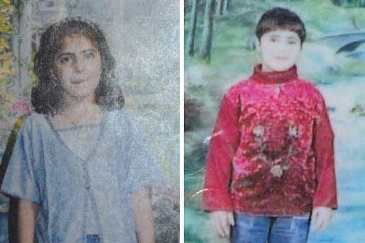 Hanan and Iman Abu Sha'ala, who were hit by an IDF artillery shell inside their home in 2001. (Courtesy of B'Tselem)