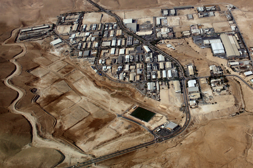 Aerial view of Mishor Adumim industrial park. (Neukoln/CC BY-SA 3.0)