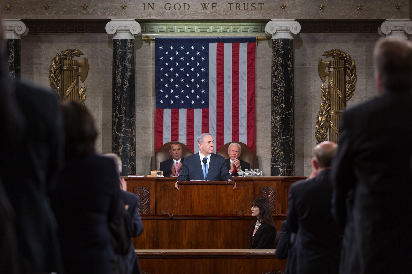 Israeli Prime Minister Benjamin Netanyahu speaks at a joint Session of the U.S. Congress on March 3, 2015. (Official Photo by Caleb Smith)
