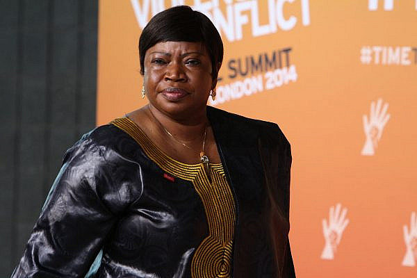 Fatou Bensouda, Prosecutor of the International Criminal Court arriving at the Global Summit to End Sexual Violence in Conflict, 12 June 2014. (FCO via Wikimedia Commons)