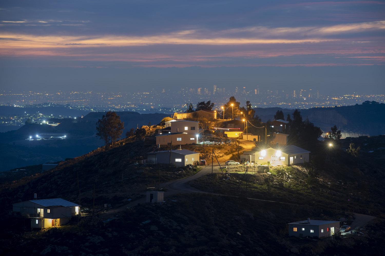 A view of Givat Tkuma, a settlement outpost near the West Bank settlement of Yitzhar, January 27, 2020. (Sraya Diamant/Flash90)