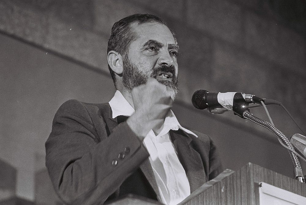 Rabbi Meir Kahane, August 24, 1984. (Yossi Zamir/Flash90)