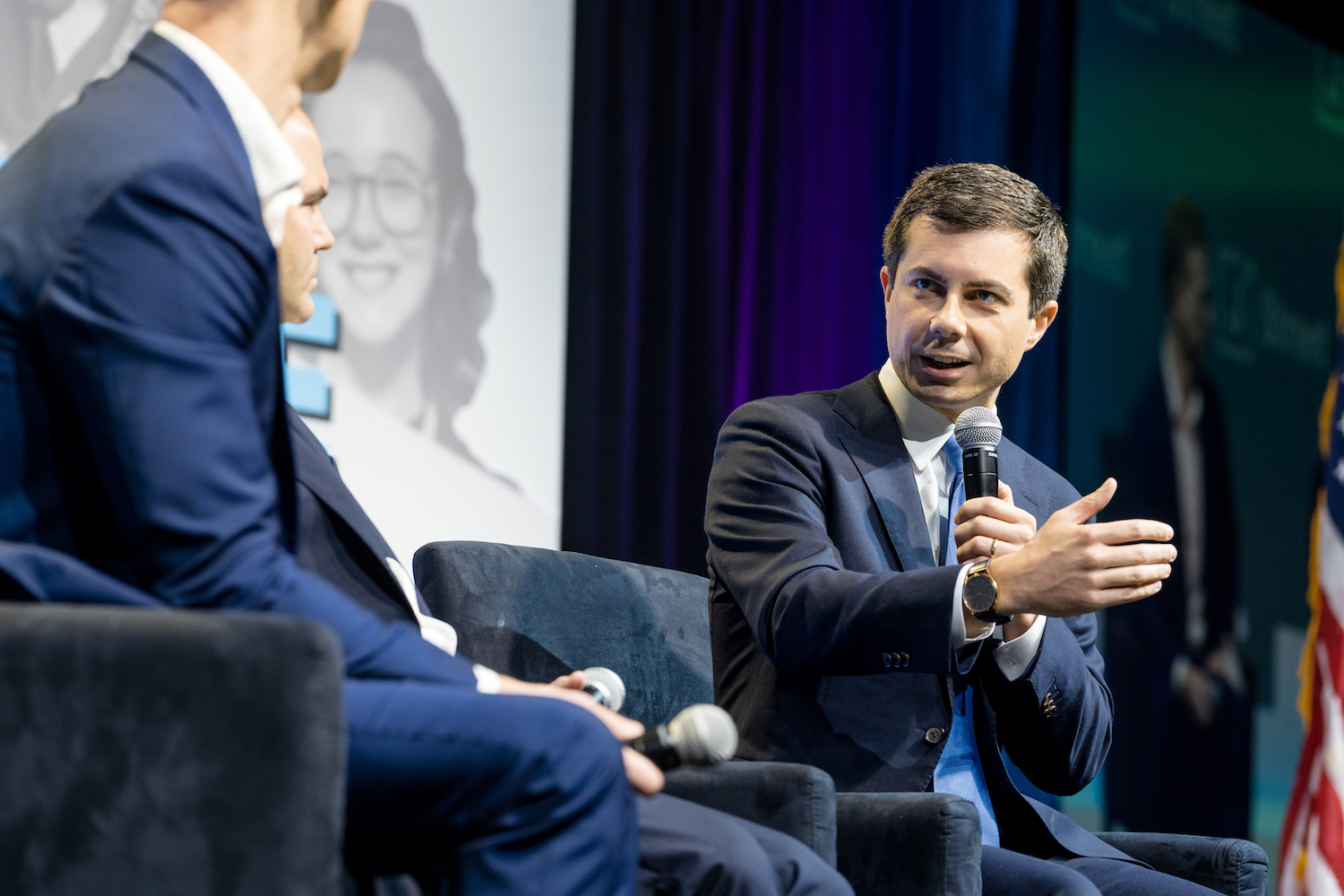 Democratic presidential candidate and South Bend Mayor Pete Buttigieg speaking at J Street Conference, October 28, 2019. (J Street)