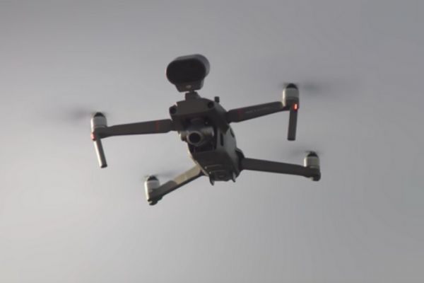 The DJI drone with a Mavic 2 Enterprise Speaker used the Israeli army during West Bank protests. (YouTube screenshot)