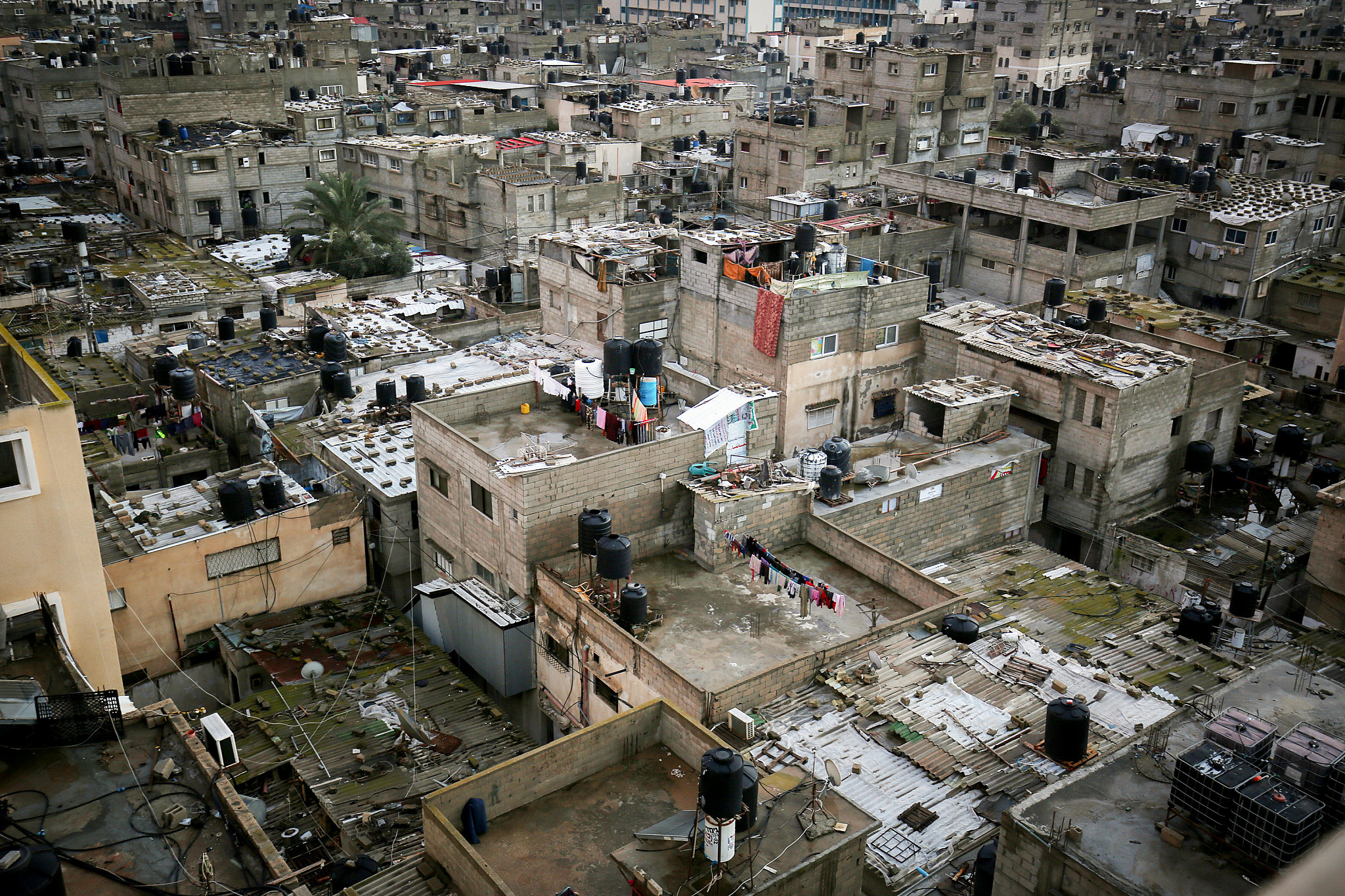 General view of Palestinian homes and buildings in Rafah, southern Gaza Strip, February 9, 2020. (Abed Rahim Khatib/Flash90)