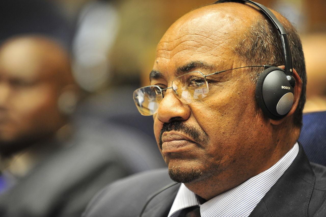Omar al-Bashir, former president of Sudan, listens to a speech during the opening of the 20th session of The New Partnership for Africa's Development in Addis Ababa, Ethiopia, Jan. 31, 2009. (US Navy photo by Jesse B. Awalt)