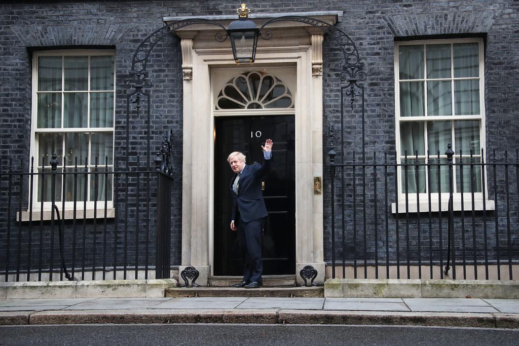 UK Prime Minister Boris Johnson at Downing Street, December 13, 2019. (Number 10/Flickr)