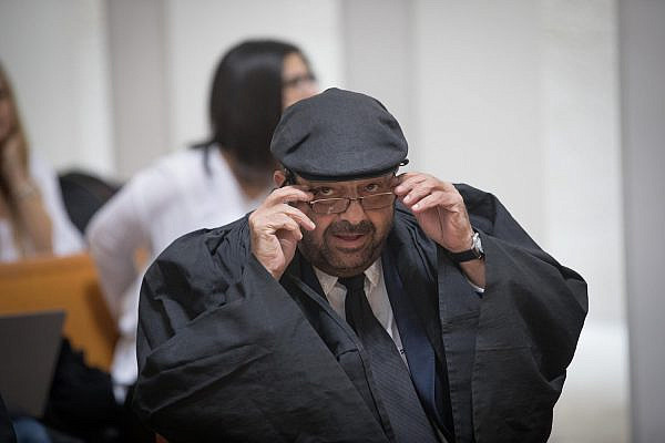 Illustrative photo of Adalah General Director Hassan Jabareen seen at the Israeli Supreme Court. (Yonatan Sindel/Flash90)