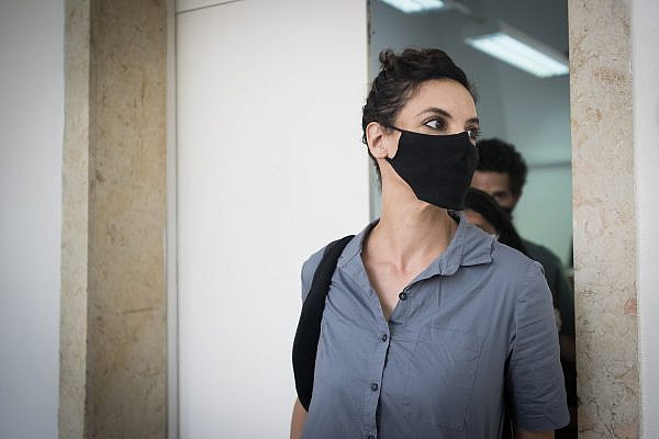 Yifat Doron seen after her verdict in the Jerusalem Magistrate's Court, May 13, 2020. (Yonatan Sindel/Flash90)