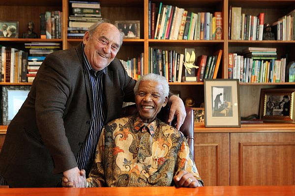 Denis Goldberg and Nelson Mandela. (Courtesy of Debbie Yazbek)