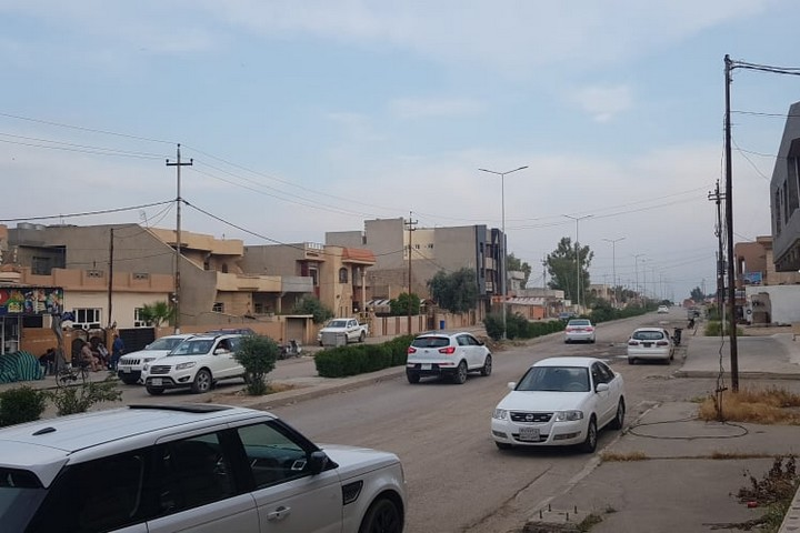The view from Jameel's window in Bakhdida, Iraq.