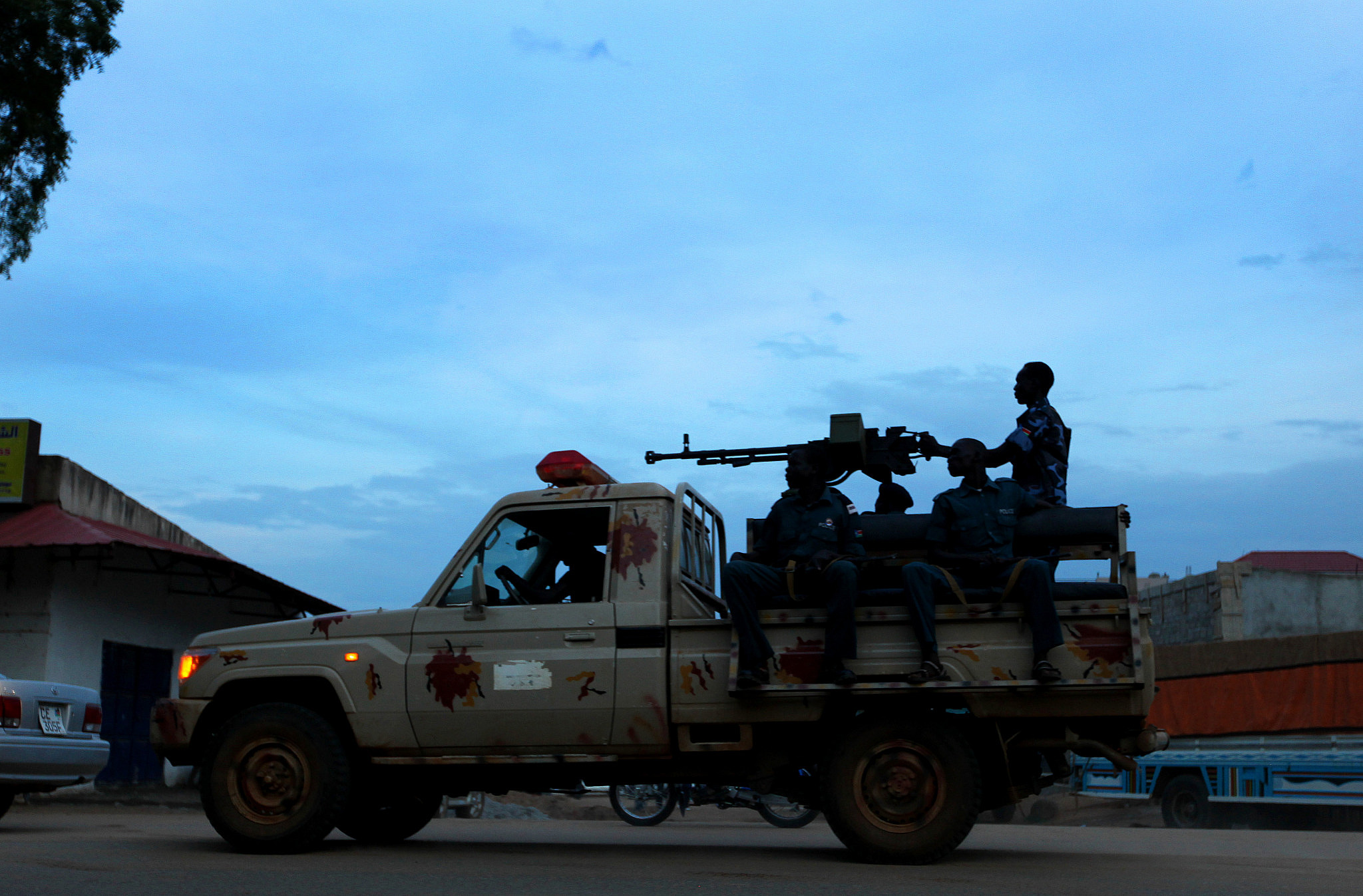 Sudanese soldiers seen patrolling the streets of Juba, the capital of the Republic of South Sudan, on August 20, 2011. (Moshe Shai/Flash90)