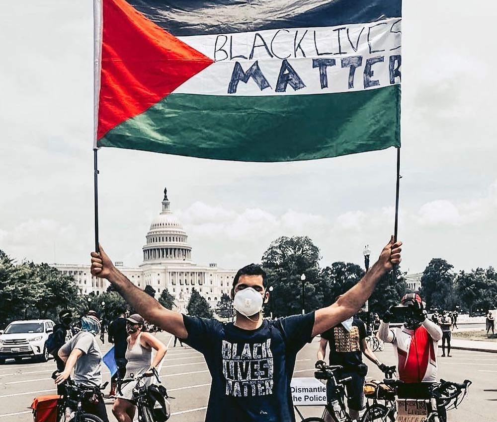 Gabriel Khoury at the protest for Black lives in Washington, D.C. on June 6, 2020. (Courtesy of Gabriel Khoury)