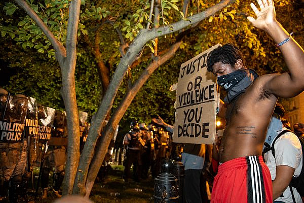 George Floyd protests in Washington DC. Lafayette Square. May 30, 2020. (Rosa Pineda/Wikimedia Commons)