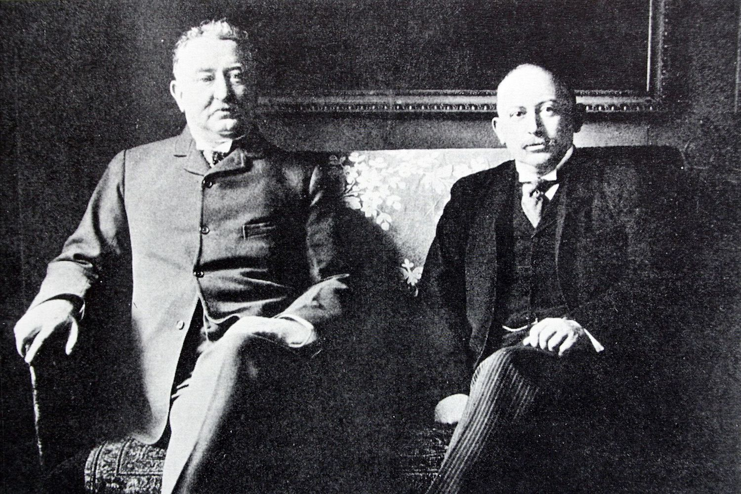 Cecil Rhodes (left) and British gold and diamond magnate Alfred Beit.