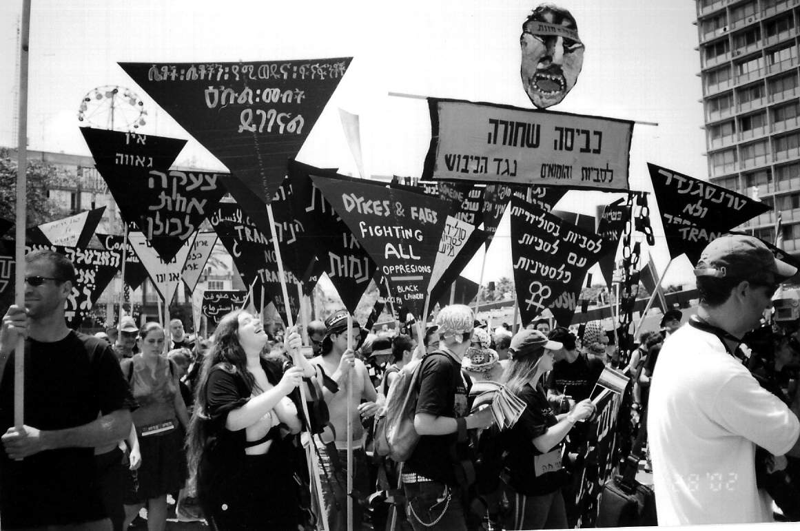 Queer anti-occupation group Black Laundry at the 2002 Pride parade in Tel Aviv. (Ronena Kaydar/CC BY 3.0)