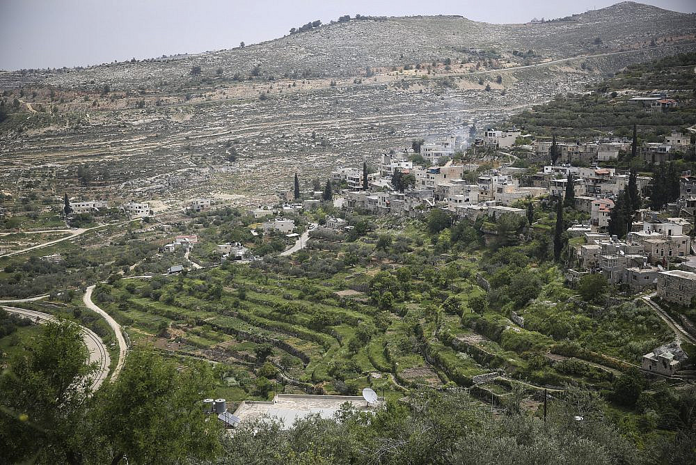 View of the Palestinian village of Battir, with its ancient terraces and irrigation system, West Bank, February 19, 2017. (Yaakov Lederman/Flash90)