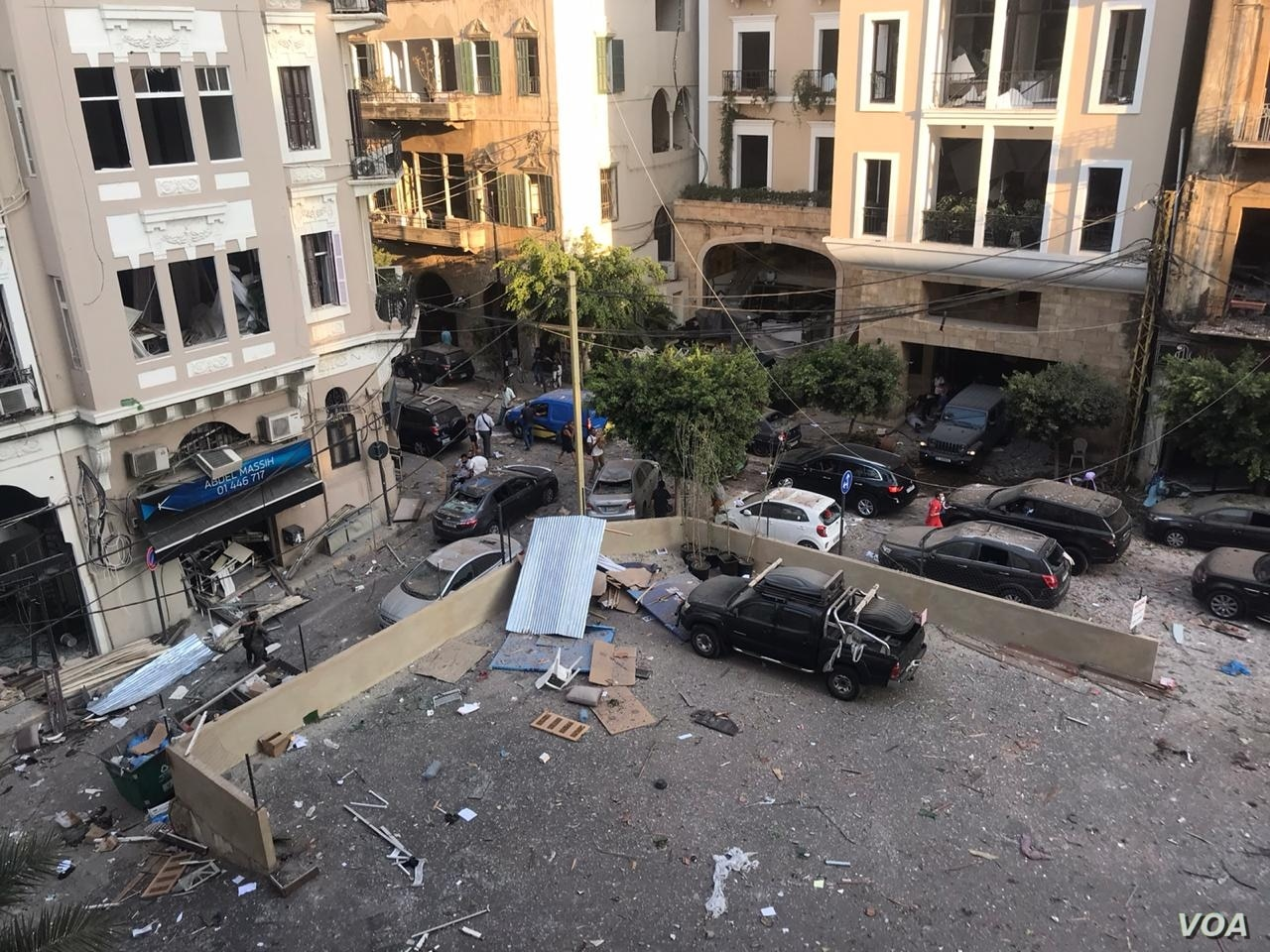 Aftermath of the Port of Beirut explosions, August 4, 2020. (Anchal Vohra/VOA via Wikimedia)