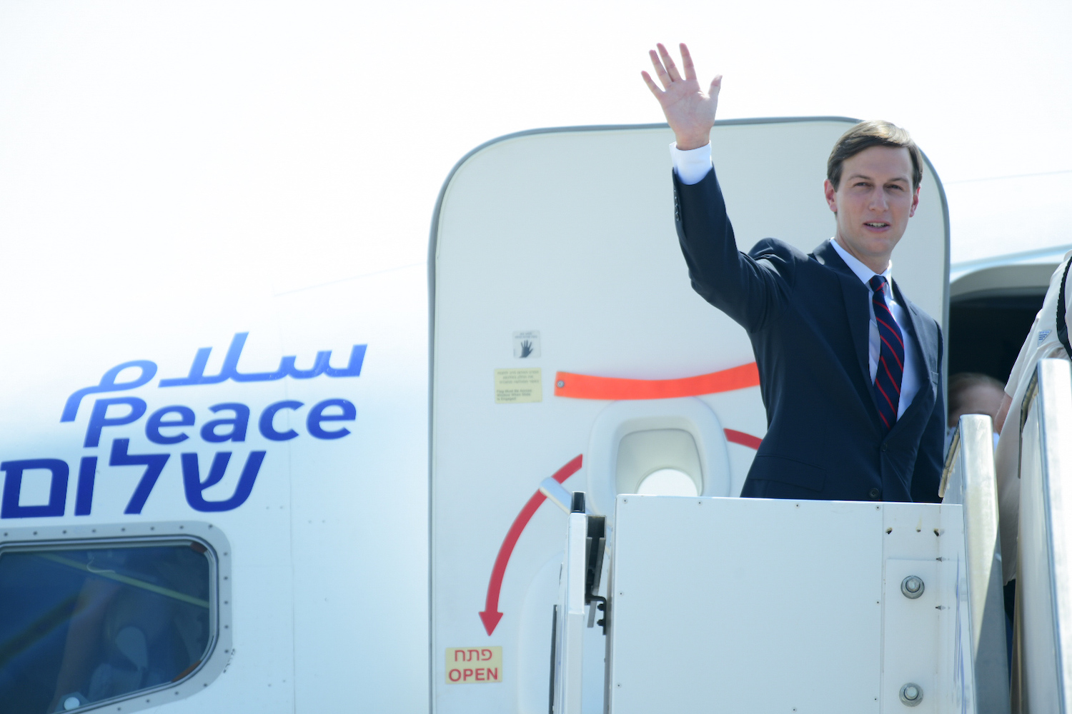 U.S. Presidential Adviser Jared Kushner seen ahead of his departure with U.S.-Israeli delegation from Tel Aviv to Abu Dhabi, at the Ben-Gurion Airport near Tel Aviv, August 31, 2020. (Tomer Neuberg/Flash90