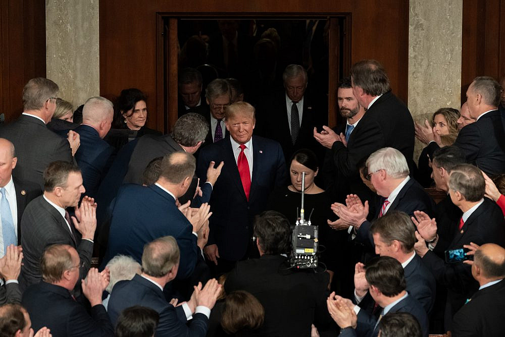 President Donald Trump arrives in the House chamber prior to delivering his State of the Union address at the U.S. Capitol in Washington, D.C., February 4, 2020. (Official White House Photo / Andrea Hanks)