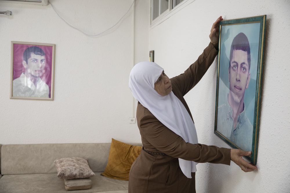 Hadiya Hussein, mother of Ahmad Jabareen. 'Twenty years have passed and it's as if it was yesterday. The pain has not lessened.' (Oren Ziv)