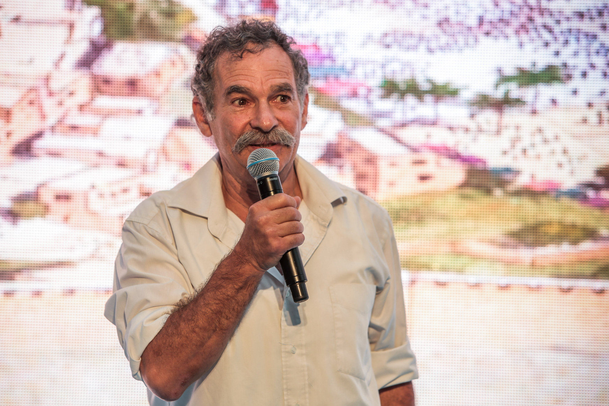 Elad Executive Director David Be'eri speaks at an event at the City of David archaeological site, in the East Jerusalem neighborhood of Silwan, June 30, 2019. (Flash90)
