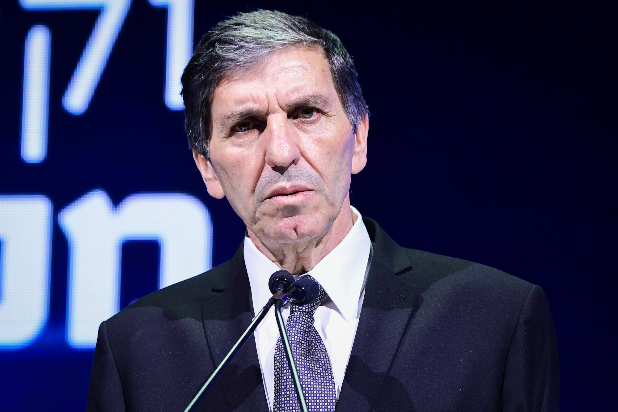 Director General of the Jewish National Fund Danny Atar speaks at the annual international Municipal Innovation Conference in Tel Aviv, February 20, 2020. (Avshalom Sassoni/Flash90)