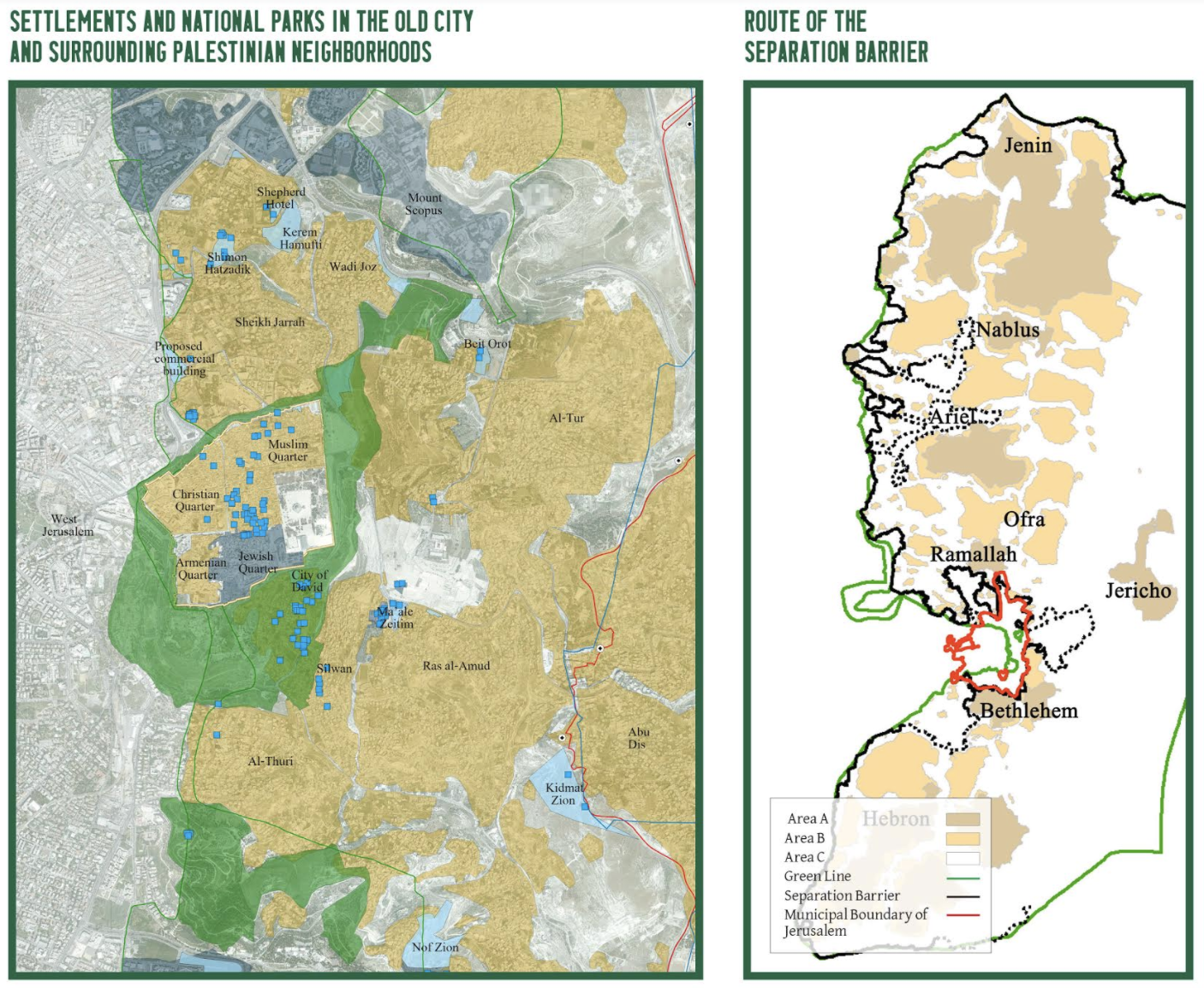 Map of settlements in East Jerusalem. (Courtesy of Ir Amim)