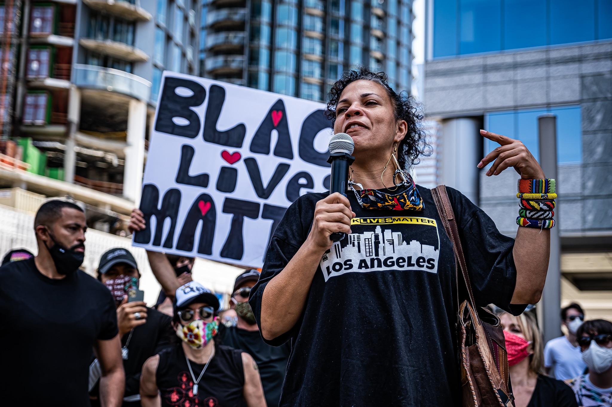 Black Lives Matter protest in Century City, California on June 6, 2020. (Brett Morrison/CC BY 2.0)