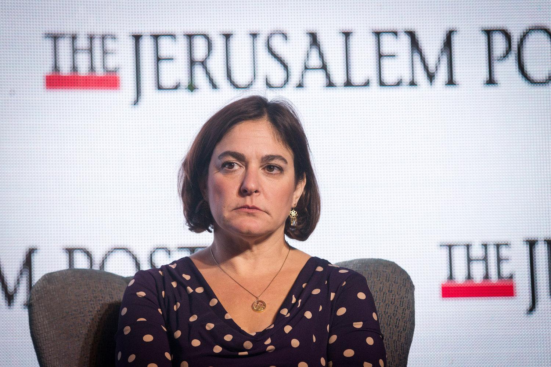 Former Jerusalem Post Senior Contributing Editor Caroline Glick speaks at the Jerusalem Post Diplomatic Conference, Waldorf Astoria Hotel, Jerusalem, November 18, 2015. (Miriam Alster /Flash90)